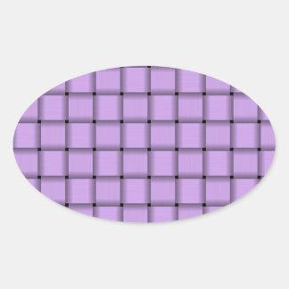 Large Weave - Mauve Oval Sticker