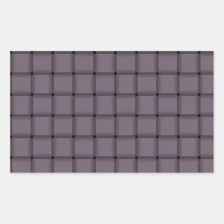 Large Weave - Old Lavender Rectangular Sticker