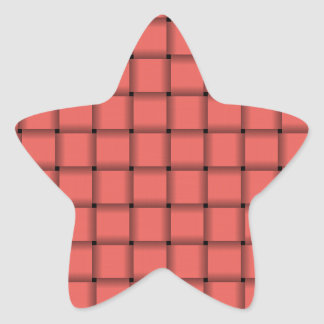 Large Weave - Pastel Red Star Sticker