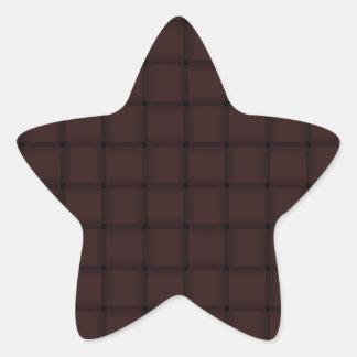 Large Weave - Seal Brown Star Sticker
