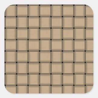 Large Weave - Tan Square Sticker
