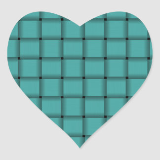 Large Weave - Verdigris Heart Sticker