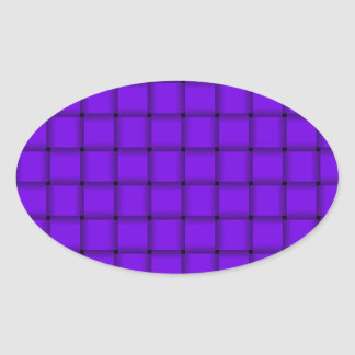 Large Weave - Violet Stickers