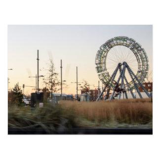 large wheel postcard