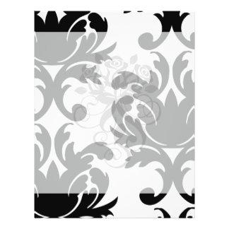 large white and black bold damask full color flyer