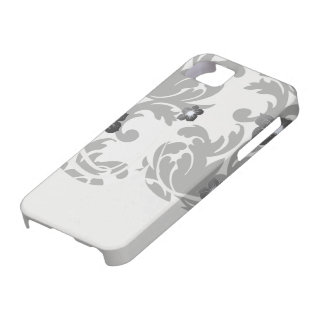 large white and black bold damask iPhone 5 covers