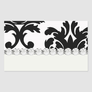 large white and black bold damask stickers