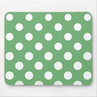 Large white dots on lime green mouse pad