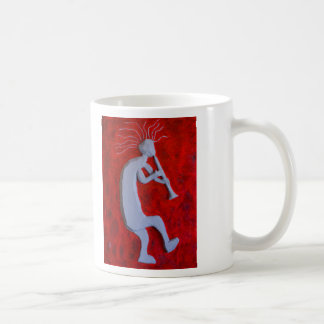 Large White Kokopelli Coffee Mug
