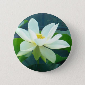 large white lily 6 cm round badge