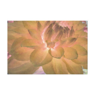 Large Yellow Dahlia Stretched Canvas Prints