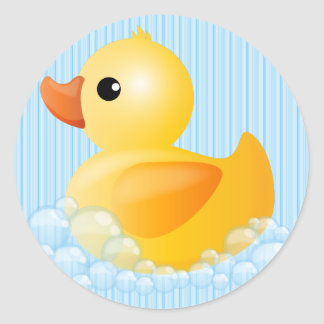 Large Yellow Duck Classic Round Sticker