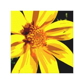 Large Yellow Flower Print