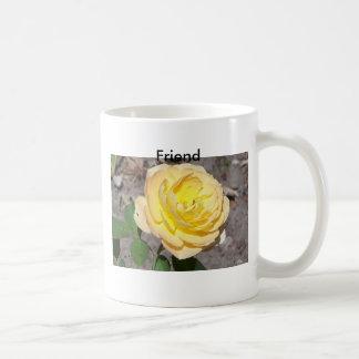 Large Yellow Rose, Friend Mug