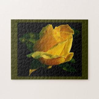 Large Yellow Rose Jigsaw Puzzle