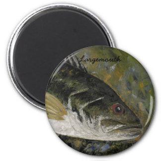 Largemouth Bass 6 Cm Round Magnet