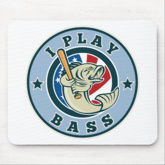 Largemouth Bass fish baseball bat Mouse Pad