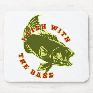 largemouth bass fish jumping mouse pads