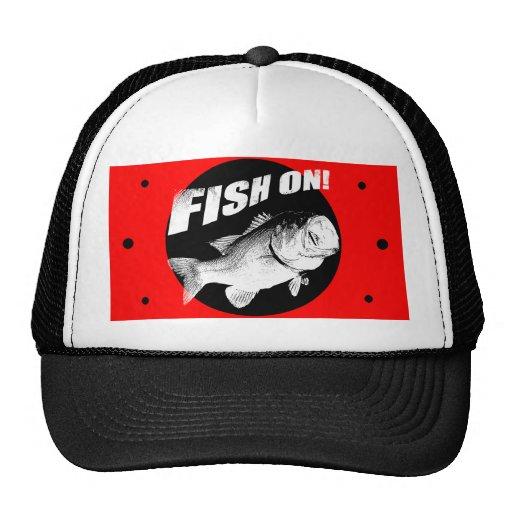 Largemouth bass fish on trucker hat zazzle for Bass fishing hats