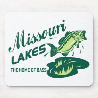 largemouth bass missouri lakes mouse pad