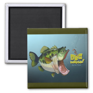 LargeMouth Bass Square Magnet