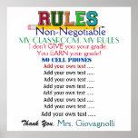Larger Version Teacher Classroom Rules Poster