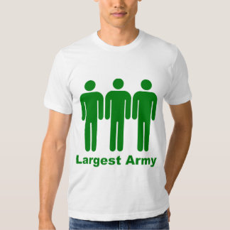 Largest Army Green T Shirt