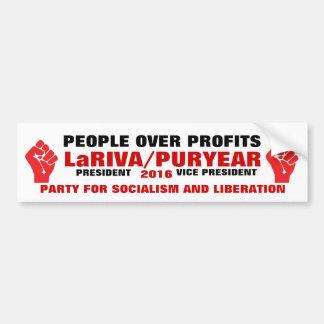 LaRIVA/PURYEAR 2016 BUMPER STICKER