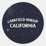 Larkfield-Wikiup California Round Sticker