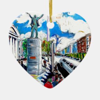 larkin monument oconnell street dublin ceramic heart decoration
