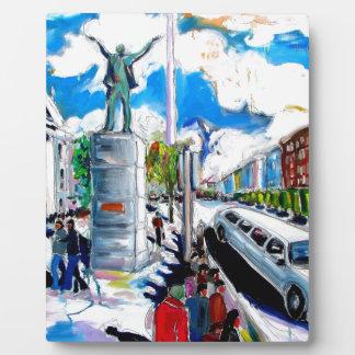 larkin monument oconnell street dublin plaque