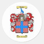 larkin round stickers