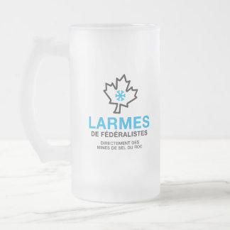 Larmes de Fédéraliste Humour Québec Canada Joke Frosted Glass Beer Mug
