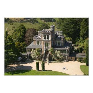 Larnach Castle, Dunedin, New Zealand - aerial Art Photo