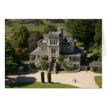 Larnach Castle, Dunedin, New Zealand - aerial Greeting Card