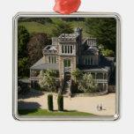 Larnach Castle, Dunedin, New Zealand - aerial Silver-Colored Square Decoration