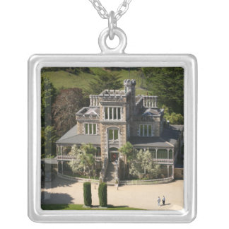 Larnach Castle, Dunedin, New Zealand - aerial Silver Plated Necklace
