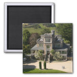 Larnach Castle, Dunedin, New Zealand - aerial Square Magnet