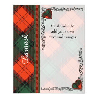 Larnack clan Plaid Scottish kilt tartan 11.5 Cm X 14 Cm Flyer
