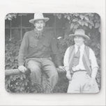 Larry Larom and a women posing. Mousepad