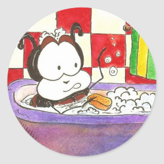 Larry the Ladybug Bug Bath Round Sticker