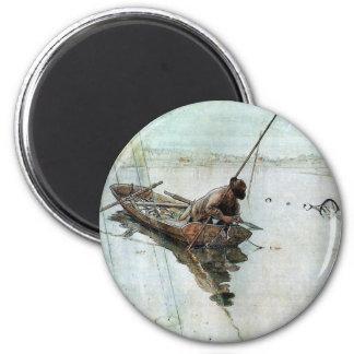 Larsson - Fishing 6 Cm Round Magnet