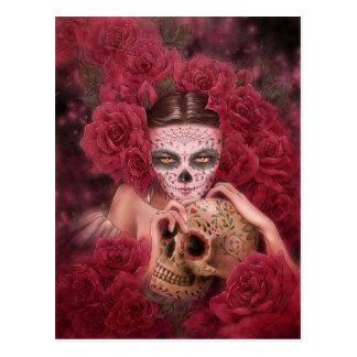 Las Calaveras Dark Fantasy Postcard