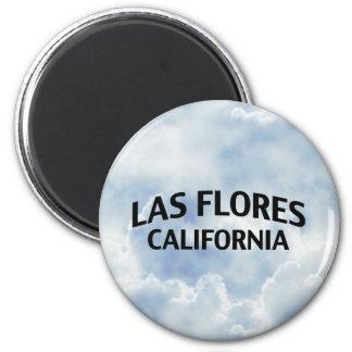 Las Flores California 6 Cm Round Magnet
