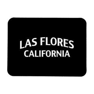 Las Flores California Rectangular Magnets