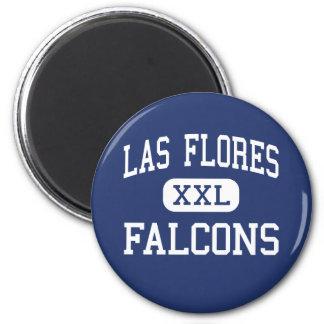 Las Flores - Falcons - High - Sacramento 6 Cm Round Magnet