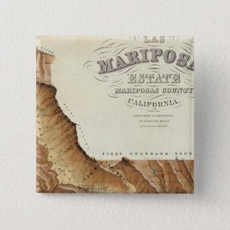 Las Mariposas Estate Mariposas County California 15 Cm Square Badge