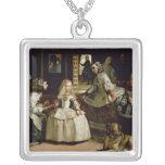 Las Meninas detail of the lower half depicting Square Pendant Necklace