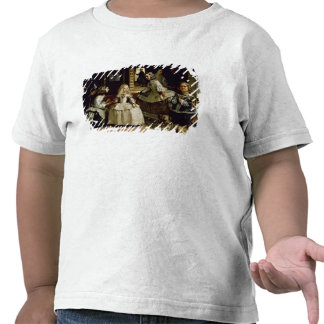 Las Meninas detail of the lower half depicting Tshirts