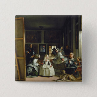 Las Meninas or The Family of Philip IV, c.1656 15 Cm Square Badge